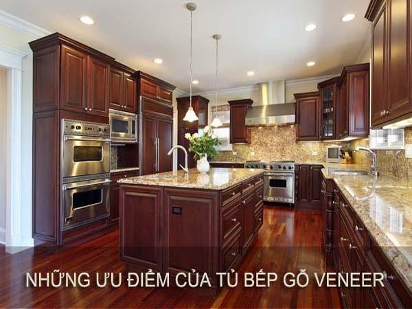 Những ưu điểm của tủ bếp Veneer