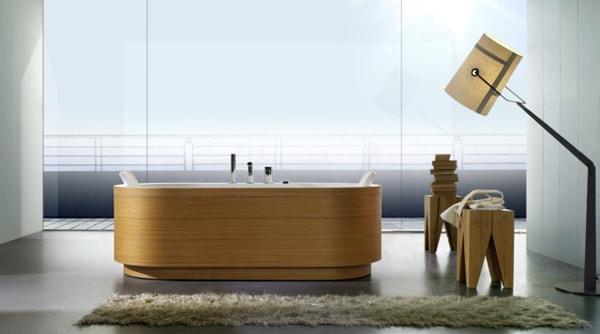 Bồn tắm gỗ Veneer