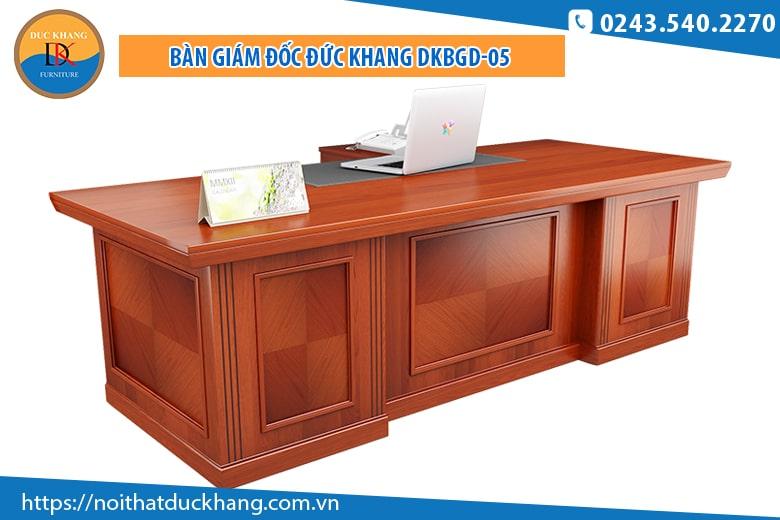 Bàn giám đốc DKBGD-05 chất liệu gỗ Veneer cao cấp