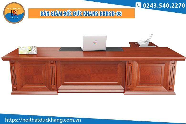Bàn giám đốc ĐKBGD-08 sử dụng chất liệu gỗ Veneer