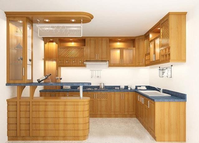Lí do gỗ veneer được ưu tiên khi thiết kế tủ bếp