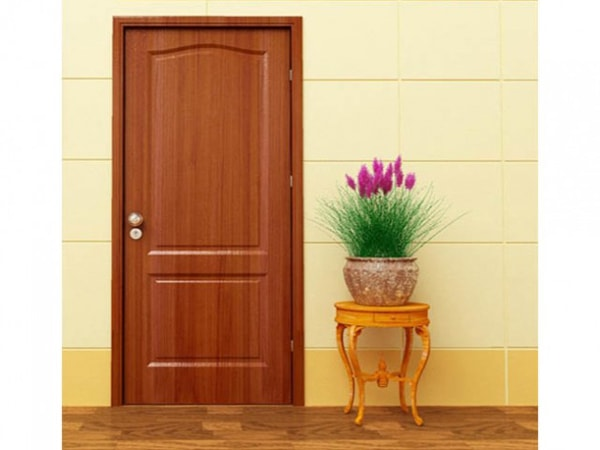 Cửa này giữ nguyên được vẻ đẹp vốn có của gỗ tự nhiên