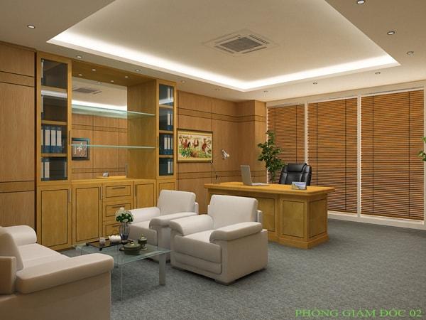 Tủ tài liệu giám đốc được sản xuất bằng Veneer là dòng tủ gỗ công nghiệp cao cấp