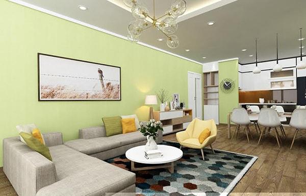 dùng sắc màu trong trang trí nội thất