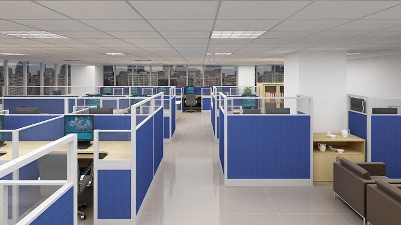 Vách ngăn văn phòng bằng nỉ có màu sắc đa dạng, bạn có thể lựa chọn màu sắc theo sở thích