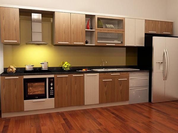 Ưu điểm của tủ bếp gỗ Veneer