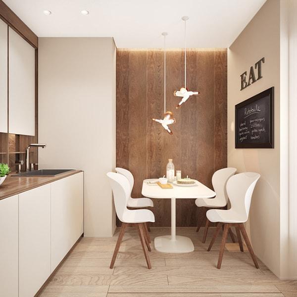 Phòng bếp tối giản nhưng cá tính