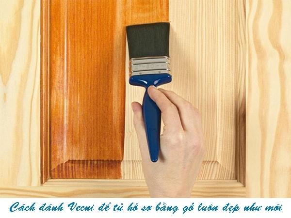 Cách đánh Vecni để tủ hồ sơ bằng gỗ luôn đẹp như mới