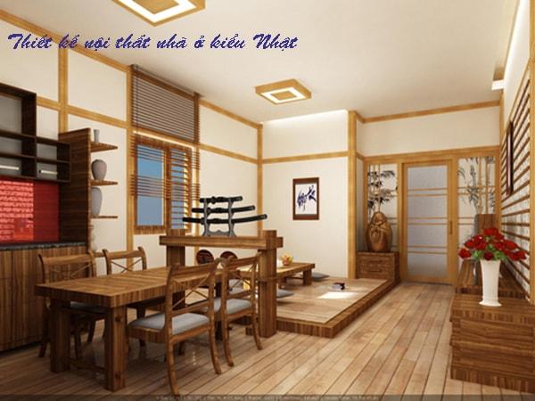 Thiết kế nội thất nhà ở kiểu Nhật ưu tiên màu đất