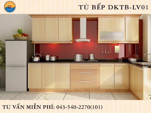 Tủ bếp Veneer DKTB-LV01