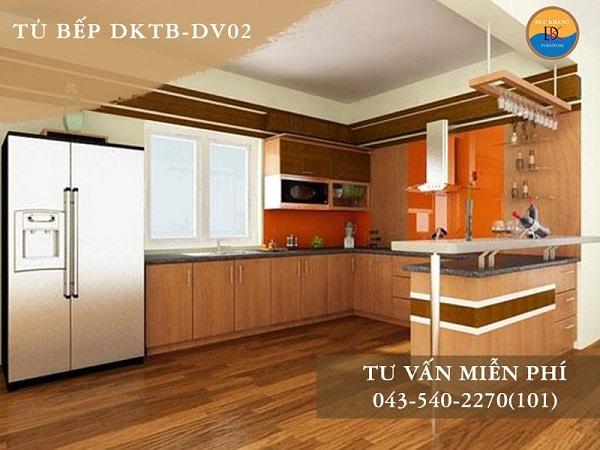 Tủ bếp Veneer DKTB-DV02
