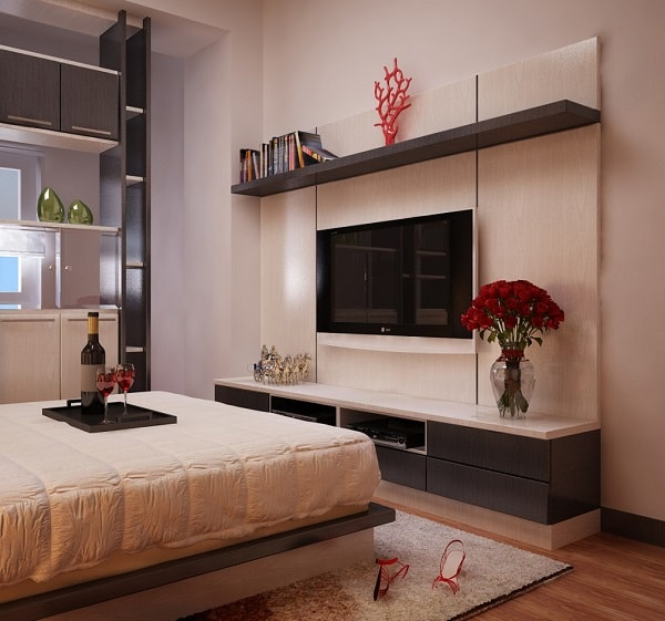 Tivi đặt trong phòng ngủ