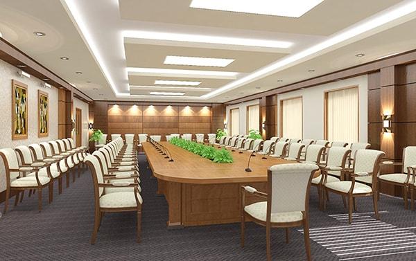 Tùy thuộc vào tính chất cuộc họp mà lựa chọn hình dáng bàn cho phù hợp