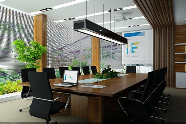 Bàn ghế phòng họp nên được sắp xếp hợp lý để vừa thuận tiện, vừa hợp phong thủy