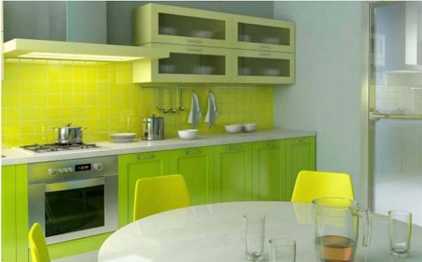 Có thể sơn nhà bếp màu xanh lá cây để hợp phong thủy