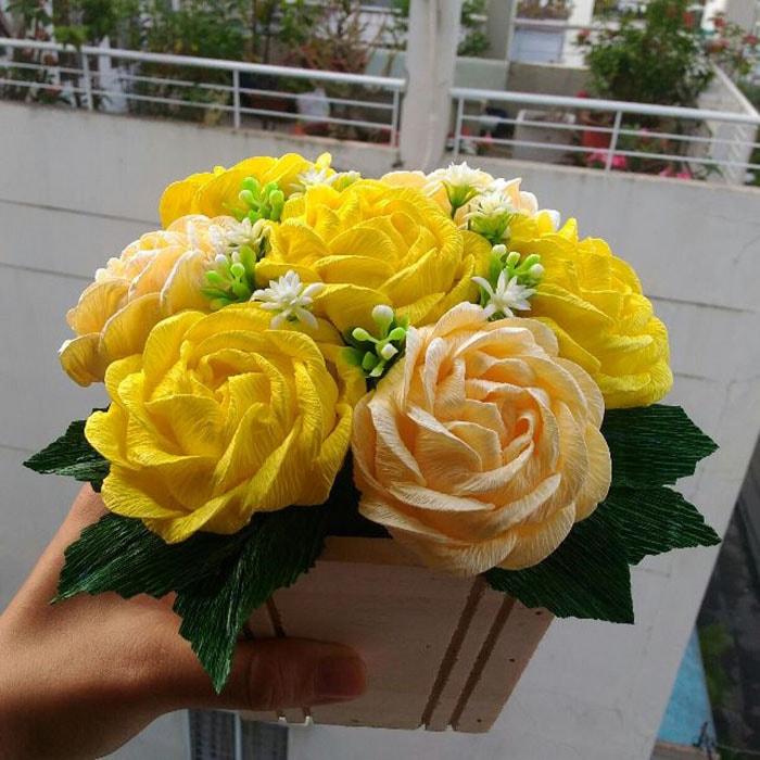 Hoa hồng vàng là loài cây rất hợp cho người mệnh Kim