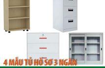 4 mẫu tủ hồ sơ 3 ngăn Hòa Phát đáng mua nhất 2018