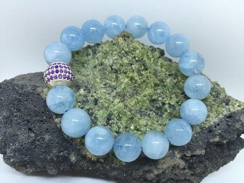 Vòng tay Ngọc xanh biển