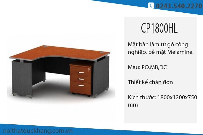 Những mẫu bàn giám đốc chữ L 1m8 tiện dụng