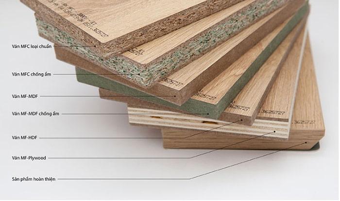 Các loại cốt gỗ MFC