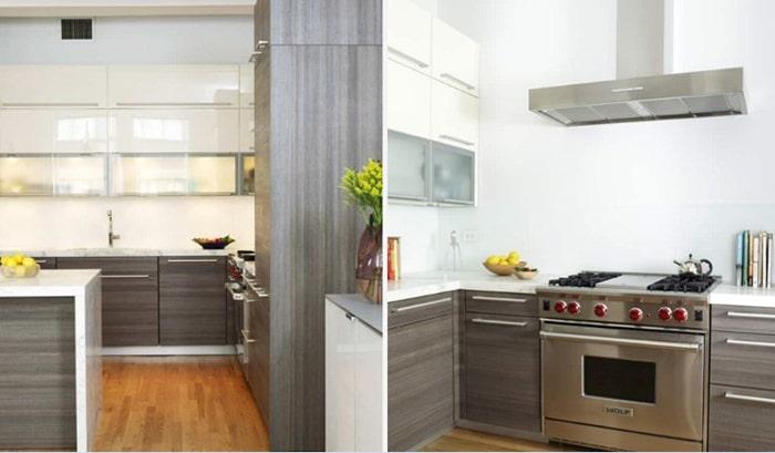 Tủ bếp về mặt laminate