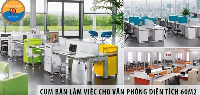 Các mẫu bàn nhân viên có vách ngăn đẹp cho văn phòng 60m2